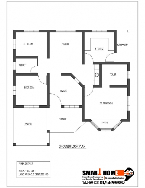 Marvelous Single Floor House Plans Home Design Ideas 3 Bedroom Single Floor House Plan Photo