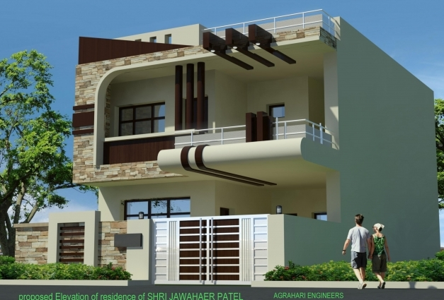 Outstanding Front Elevation Of 25 Yunus Architecture 1 Pinterest House House Ghar Beautiful Elevation Expert Pic
