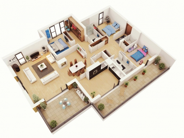 Wonderful Picture Of 3bedroom House Plan Designs Interior For House 3 Bedroom House Picture