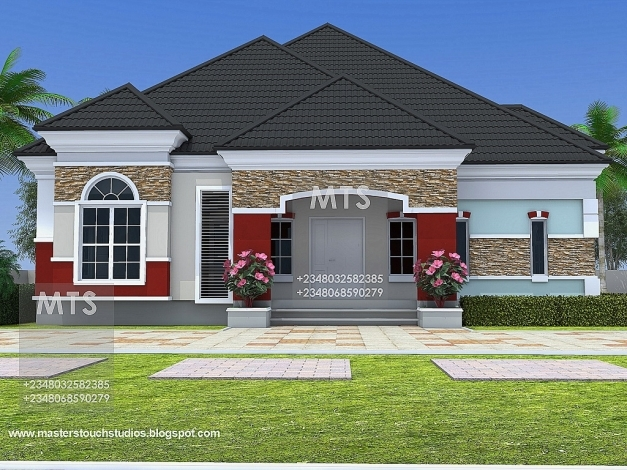 Awesome Mr Chukwudi 5 Bedroom Bungalow Residential Homes And Public Designs Building Plans 5 Bedroom In Nigeria Photo