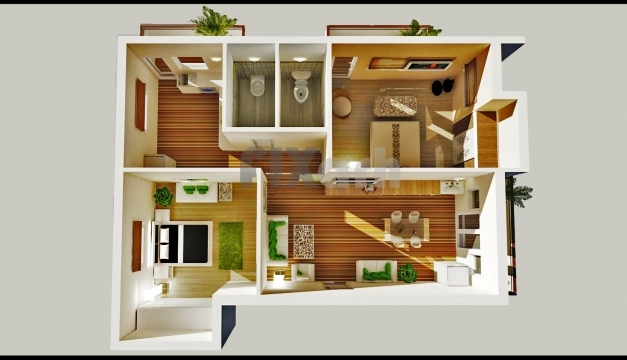 Fantastic 2 Bedroom House Plans Designs 3d Small House Home Design Home Two Bedroom Plan Design Pictures