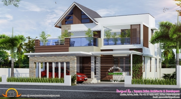 Fascinating Kerala Modern House Home Designs Pinterest Kerala Modern Modern Houses In Kerala Photo Gallery Pics