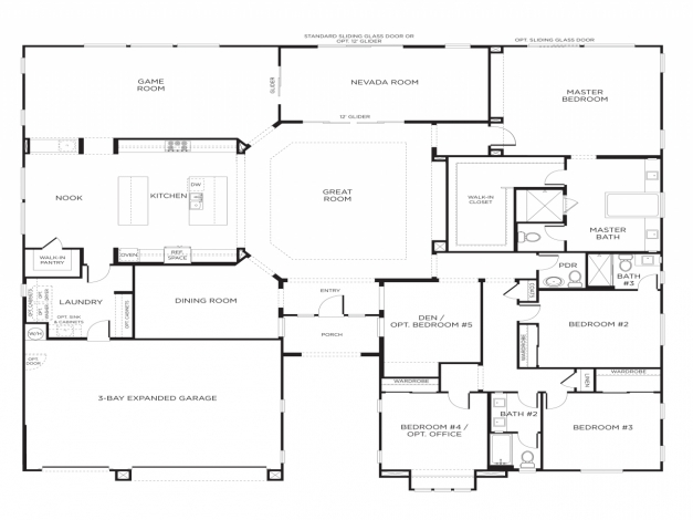Inspiring 4 Bedroom Single Story House Plans Bedroom Interior Bedroom 4 Story House Plans Pictures