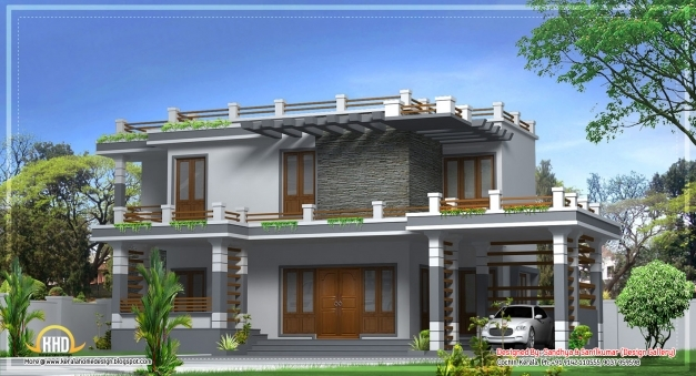 Marvelous Modern Home Design In Kerala Sqft Newest Traditional Balcony Patio Modern Houses In Kerala Photo Gallery Picture