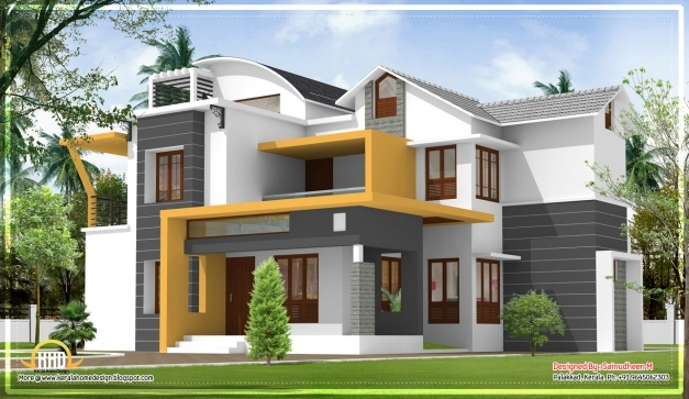 Outstanding Interesting Modern Kerala House Plans With Photos 15 In House Modern Houses In Kerala Photo Gallery Photo