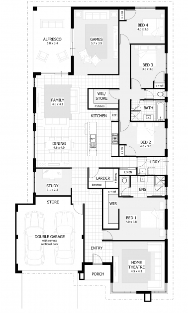 Remarkable 4 Bedroom House Plans Home Designs Celebration Homes 4 Story House Plans Picture