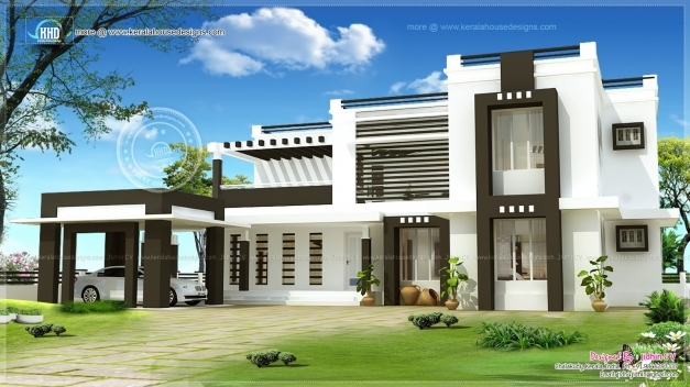 Stylish Exterior Houses Design Modern Kerala House Exterior Designs Pic