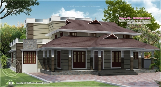 Fantastic Traditional Single Storey Ed Naalukettu With Nadumuttam Kerala Nalukettu Veedu Double Storey Plans Image