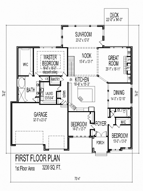 Marvelous Simple House Plan With 2 Bedrooms And Garage Awesome Four Bedroom Simple House Plan With 2 Bedrooms And Garage Pic