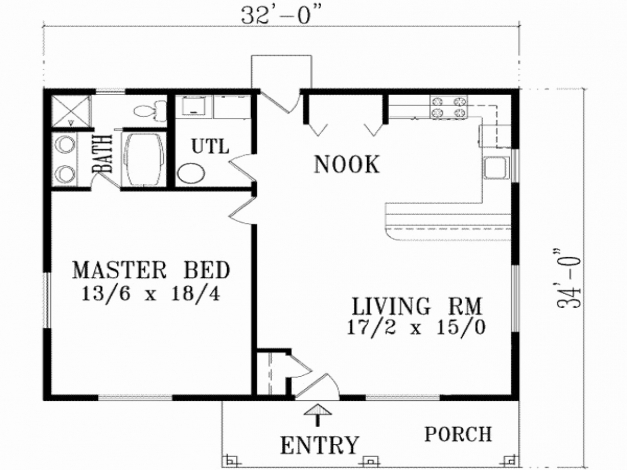 Outstanding 2 Bedroom 1 Garage House Plans Luxury Simple 1 Bedroom House Plans 1 Simple House Plan With 2 Bedrooms And Garage Images