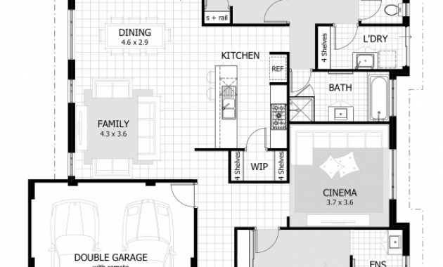 Stunning House Plans With Double Garage Homes Floor Plans 3 Bedroom House Plans With Double Garage In South Africa Pics
