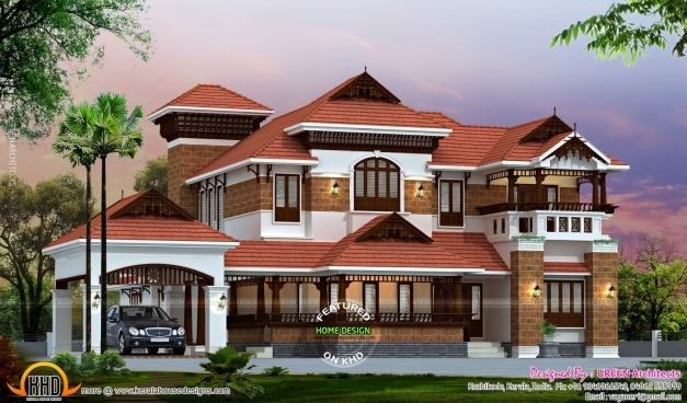 Stylish Marvelous Modern Nalukettu House Plans Classic Designs Idea Of Nalukettu Veedu Double Storey Plans Photos