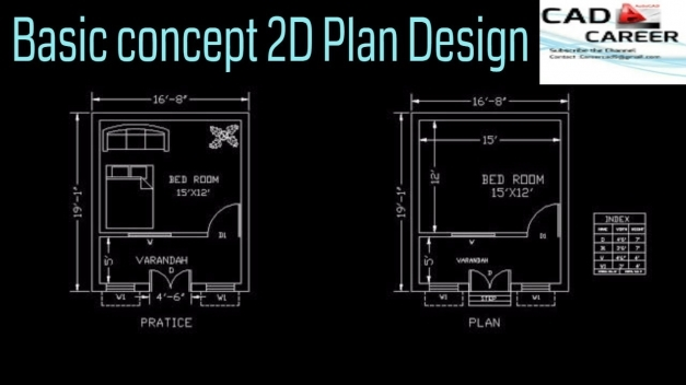 Amazing Draw Home 2d Plan In Autocad From Basic Concept Complete Plan In 2d House Plans For Practice Pictures