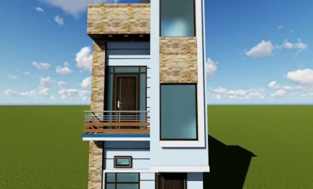 Awesome 12 Feet Front Elevation Youtube 15*50 House Elevation Image