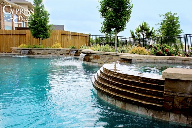 Awesome Cypress Custom Pool Spa Photo Gallery Houston Katy Woodlands Cypress Custom Pools Pic
