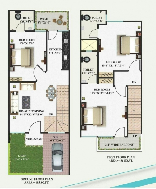 Wonderful 15 50 House Layout Plan House Plan Ideas 15by50 Best House Plan Image