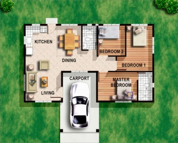 Amazing 3 Bedroom Bungalow House Designs Floor Plans 3 Bedroom Bungalow 3 Bedroom Bungalow Modern House With Their Floor Plan Photo