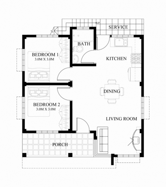 Delightful Three Bedroom Floor Plan House Design Luxury 3 Bedroom Bungalow 3 Bedroom Bungalow Modern House With Their Floor Plan Photo