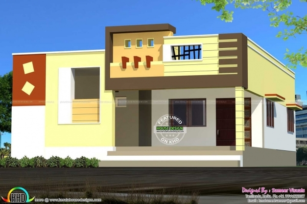 Incredible Front Elevation Of Single Floor House Kerala Pictures Also Awesome Single Floor House Elevations Photos Pictures