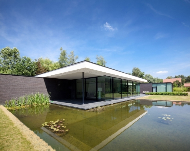 Incredible House Faes Hvh Architecten Keribrownhomes Single Story Architecture Pic