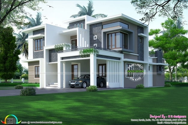 Inspiring 3017 Square Feet Contemporary Home Kerala Home Design Bloglovin Khd Home Design 2017 Pics