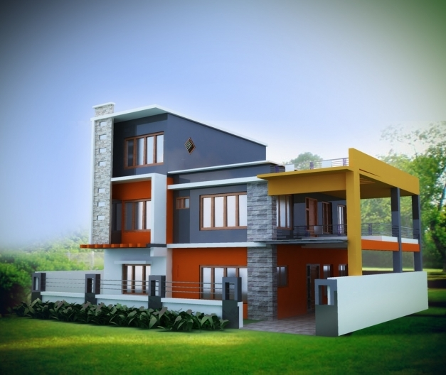 Inspiring Prakash Engineers And Builders Provides All Kind Of 3d Elevation 3d Indian House Photo