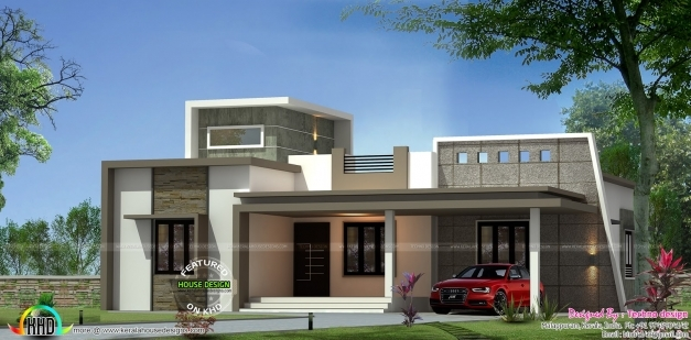 Marvelous Contemporary One Floor 3 Bedroom Home Kerala Home Design Bloglovin Khd Home Design 2017 Pic