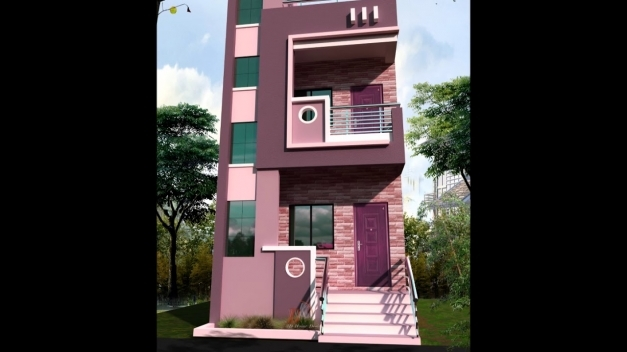 Remarkable 15 Feet Front House Design Youtube 15*50 House Front Elevation Picture