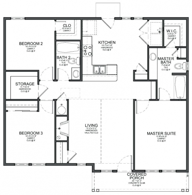 Fantastic Outstanding 3 Bedroom House Plans 42 With Addition House Plan With 3 3 Bedroom House Plans Image