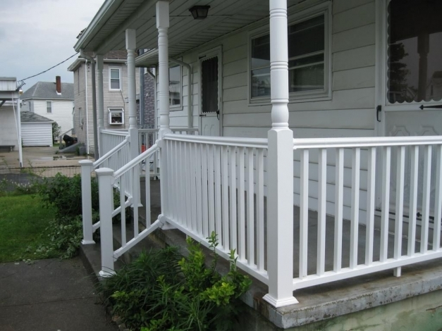 Fascinating Porch Railing Designs Railing Designswhite Railing Composite Front Porch Railing Designs Image