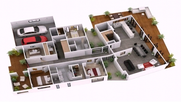 Gorgeous 4 Bedroom House Plans Indian Style 3d Youtube 4 Bedroom House Plans Indian Style Images
