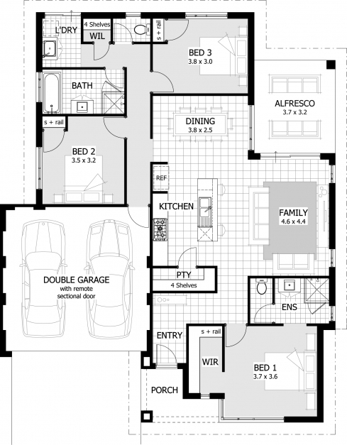 Inspiring Extraordinary 3 Bedroom House Plan 0 Tingsmombooks 3 Bedroom House Plans Images