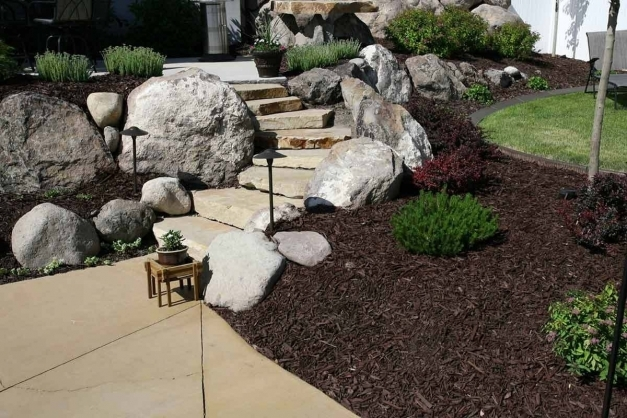 Outstanding Create Front Yard Landscaping With Rocks Bistrodre Porch And Landscaping Ideas For Front Yard Using Rocks Pics