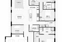 Outstanding 4 Bedroom House Plans Home Designs Celebration Homes Simple 4 Bedroom House Plans Picture