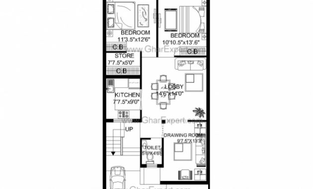 Fantastic House Plan For 24 Feet 60 Feet Plot Plot Size160 Square Yards House Plan For 24 Feet By 60 Feet Plot Pic