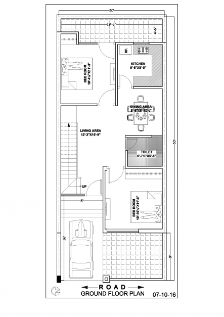 Marvelous 2050 Duplex House Floor Plan Ghar Banavo 20*50 House Plan Pic