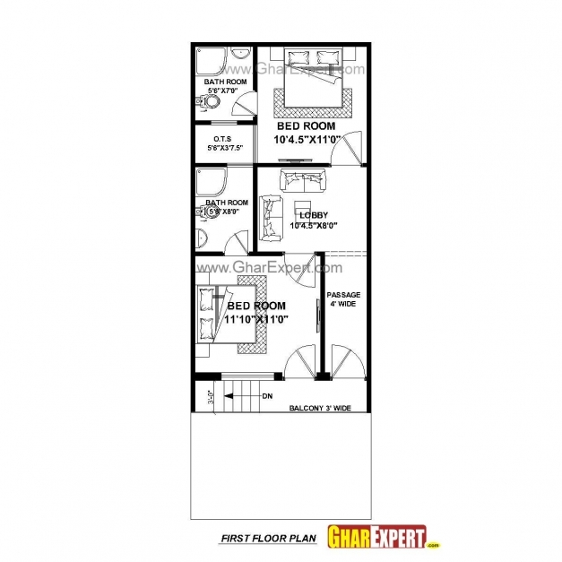 Delightful House Plan For 17 Feet 45 Feet Plot Plot Size 85 Square Yards 17*45 Floor Plan Photos