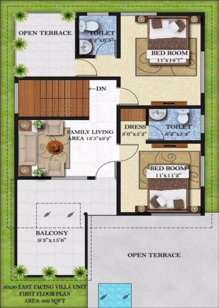 Awesome Bougainvillea Villas Infrany Ventures House Plan 15*50 Image