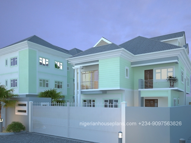 Fascinating Nigerianhouseplans Your One Stop Building Project Solutions Center 5 Bedroom Flat Com Picture