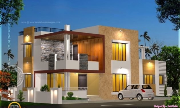 Outstanding Floor Plan And Elevation Of Modern House Kerala Home Design And Modern House Plan And Elevation Images