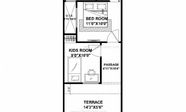 Stylish House Plan For 15 Feet 50 Feet Plot Plot Size 83 Square Yards House Plan 15*50 Picture