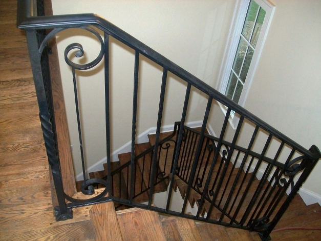 Awesome Interior Wrought Iron Stair Railings Fine Wrought Iron Stair Wrought Iron Ideas Photo