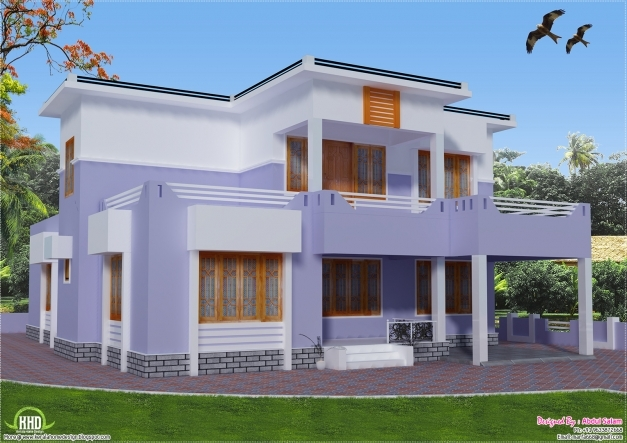 Delightful Flat Roof House Designs Kerala Model Top Home Interior Designers Home Planskill Kerala Pictures