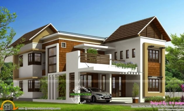 Fascinating Stylish Trendy House Plan Kerala Home Design And Floor Plans Stylish Houses In Kerala Images
