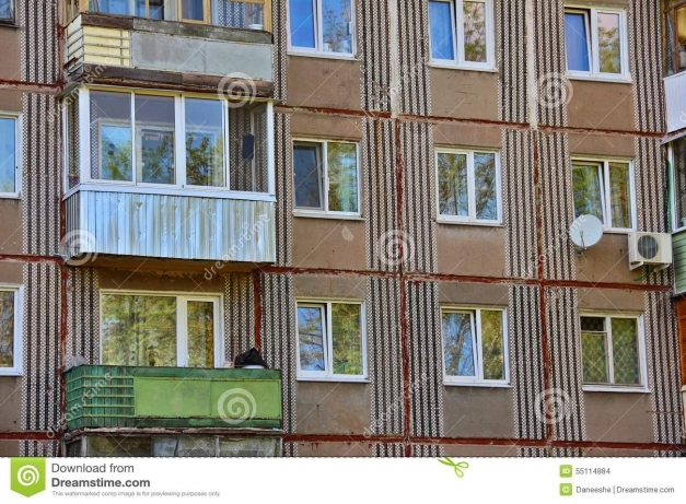 Fascinating Windows And Balconies On Facade Of Prefabricated House Stock Photo Prefab Balconies Pictures