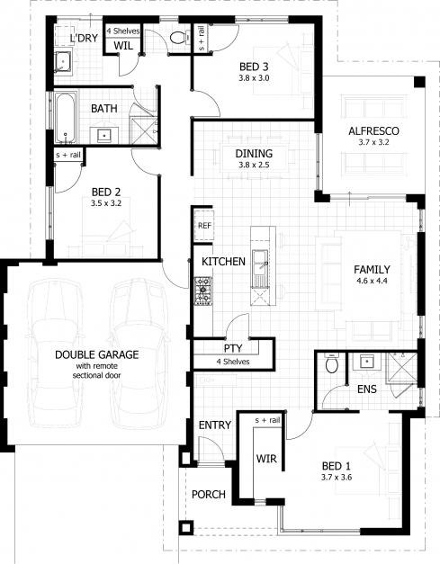 Gorgeous Simple Three Bedroom House Plans Throughout 3 Bathroom Corglife Simple House Plan With 3 Bedrooms And Garage Picture