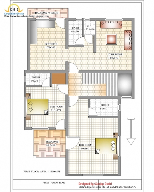 Incredible 50 Square Feet House Plans House And Home Design 50 Square Feet Long House In India Image