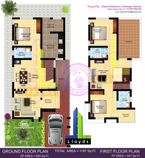Inspiring 1197 Sq Ft 3 Bedroom Villa In 3 Cents Plot Kerala Home Design 50 Square Feet Long House In India Pic