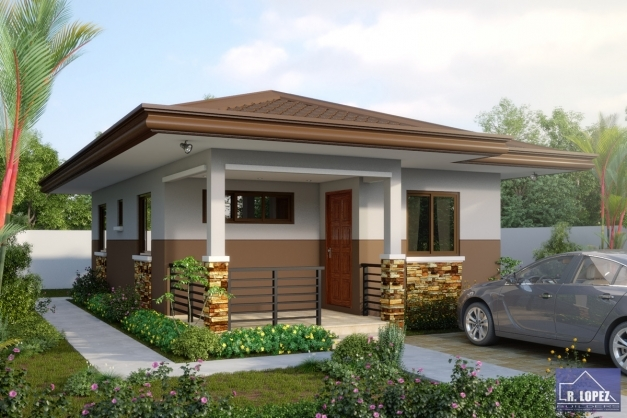 Inspiring Single Storey Small Residential House Home Design Single Story Small House Plans Pictures