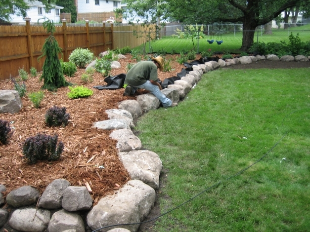 Outstanding Rock Garden Designs For Front Yards Landscape Ideas Yard Design Yard Landscaping Ideas With Rocks Image